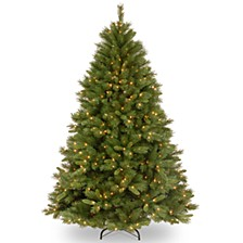 National Tree 7 .5' Winchester Pine Hinged Tree with 500 Clear Lights