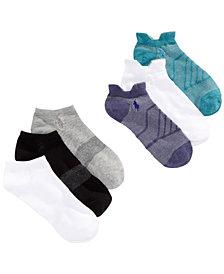 Polo Ralph Lauren 6-Pk. Geo Mesh Double-Tab Athletic Socks