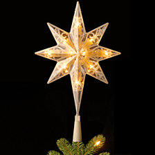 "National Tree 11"" Tree Top Star with Warm White LED Lights"