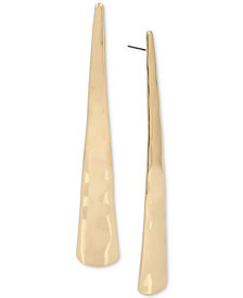 Robert Lee Morris Soho Gold-Tone Geometric Stick Linear Drop Earrings