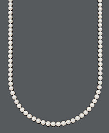 "Belle de Mer Pearl Necklace, 20"" 14k Gold A Cultured Freshwater Pearl Strand (6-7mm)"