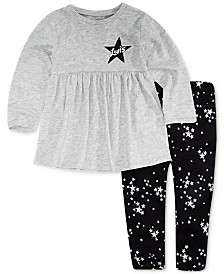 Levi's® Baby Girls 2-Pc. Knit Peplum Top & Printed Leggings Set