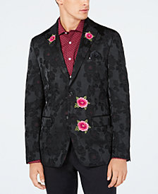 Tallia Men's Slim-Fit Floral Jacquard Dinner Jacket