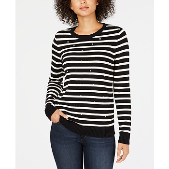 Charter Club Women's Petite Printed Sweater