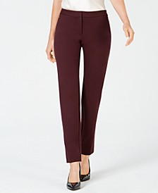 Petite Ponte-Knit Slim-Leg Pants, Created for Macy's