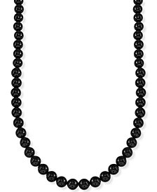 "Esquire Men's Jewelry Onyx (8mm) 30"" Necklace (Also Available in Tiger's Eye), Created for Macy's"