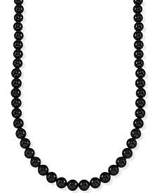 "Esquire Men's Jewelry Onyx (8mm) 30"" Necklace, Created for Macy's"