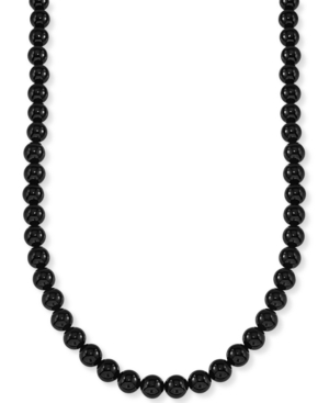 """Onyx (8mm) 30"""" Necklace"""