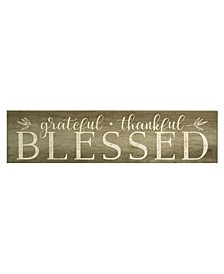 """Stratton home Decor """"Grateful, Thankful, Blessed"""" Wall Art"""