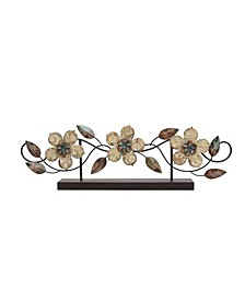 Stratton Home Decor Stamp Wood Flower Table Top