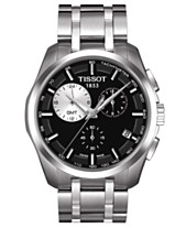 e09adc4221f Tissot Men s Swiss Chronograph Couturier Stainless Steel Bracelet Watch  T0354391105100