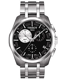 Tissot Men's Swiss Chronograph Couturier Stainless Steel Bracelet Watch T0354391105100