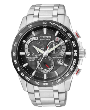 Citizen Men's Chronograph Eco-Drive Stainless Steel Bracelet Watch 43mm AT4008-51E