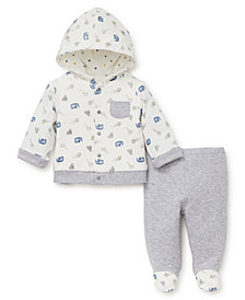 Little Me Baby Boys Jungle Print Hoodie Set