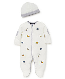 Little Me Baby Boy Jungle Fun Footie and Hat