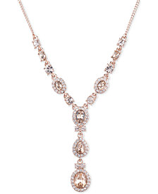 "Givenchy Crystal Lariat Necklace, 16"" + 3"" extender"