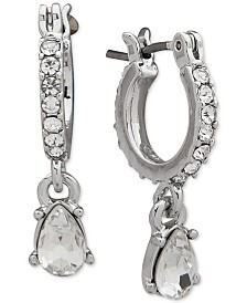 Givenchy Crystal Teardrop Drop Earrings