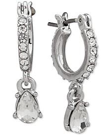 Givenchy Crystal Teardrop Drop Earrings