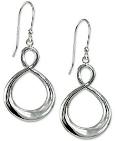 Giani Bernini Infinity Drop Earrings in Sterling Silver, Created for Macy's