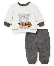 Little Me Baby Boys Teddy Sweatshirt Set