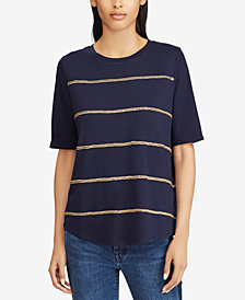 Lauren Ralph Lauren Elbow-Sleeve Top