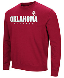 Colosseum Men's Oklahoma Sooners Playbook Fleece Crew Neck Sweatshirt