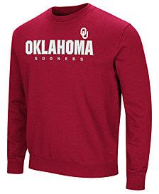 Colosseum Men's Oklahoma Sooners Playbook Fleece Crew Neck Sweatshirt