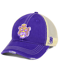 Retro Brand LSU Tigers Retro Distressed Trucker Snapback Cap