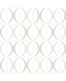 Circulate Light Silver Peel and Stick Wallpaper