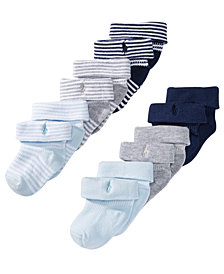 Ralph Lauren Baby Boys 6-Pk. Ribbed Turncuff Socks