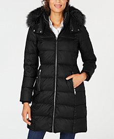 Andrew Marc Fox-Fur-Trim Hooded Down Coat