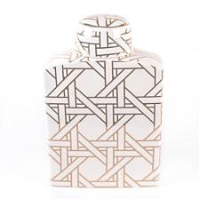 Cane Printed Ginger Decorative Jar