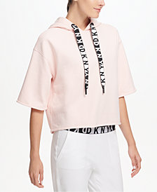 DKNY Sport Relaxed Cropped Hoodie, Created for Macy's