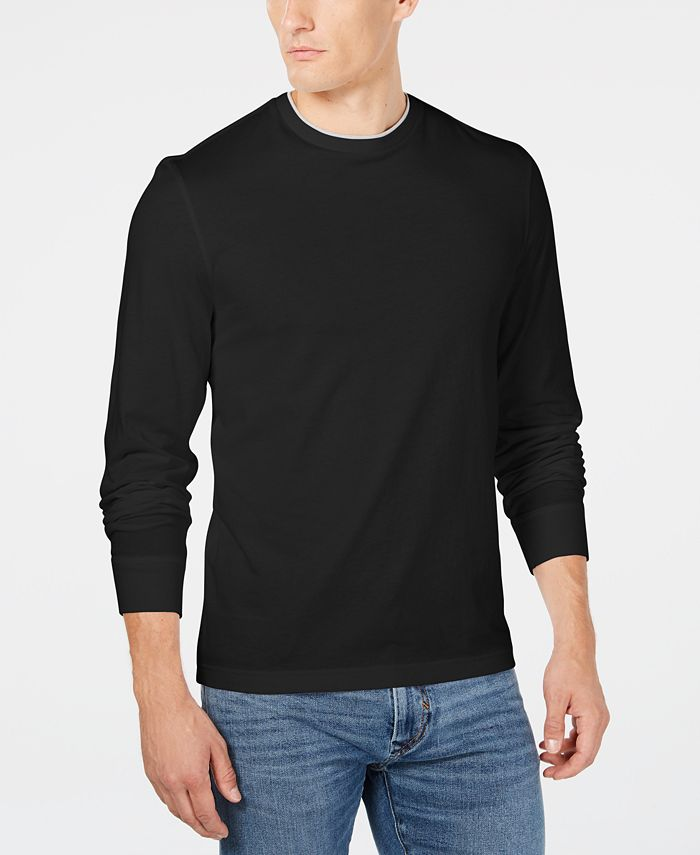 Club Room - Men's Doubler Crewneck T-Shirt