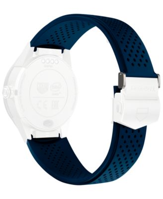 Modular Connected 2.0 Blue Perforated Rubber Smart Watch Strap 1FT6077