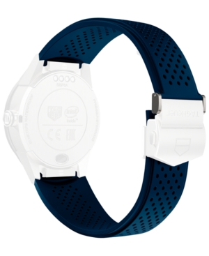 Tag Heuer Modular Connected 2.0 Blue Perforated Rubber Smart Watch Strap 1FT6077