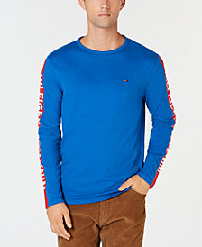 Tommy Hilfiger Men's Long-Sleeve Logo Graphic Shirt, Created for Macy's