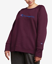 28183ef04695 Champion Plus Size Powerblend Fleece Boyfriend Logo Sweatshirt