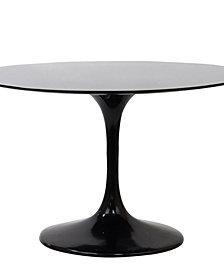 Lippa 40 Inch Round Fiberglass Dining Table
