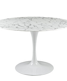Lippa 47 Inch Round Artificial Marble Dining Table
