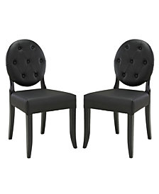 Modway Button Dining Side Chair Set of 2