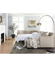Elliot II Fabric Sectional Collection, Created for Macy's