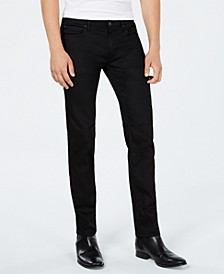 Men's Slim-Fit Charcoal Black Jeans