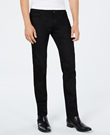 HUGO Men's Slim-Fit Charcoal Black Jeans