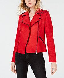 Kut from the Kloth Haddie Faux-Suede Moto Jacket