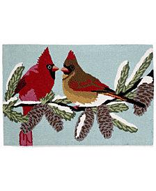"""Liora Manne Front Porch Indoor/Outdoor Cardinals Sky 2'6"""" x 4' Area Rug"""