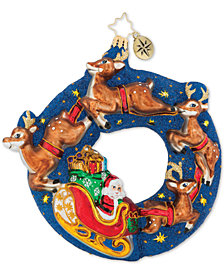 Christopher Radko Santa's Midnight Ride Ornament