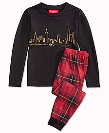 Matching Family Pajamas Skyline Pajama Set, Available In Toddlers and Kids, Created For Macy's