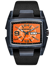 Diesel Men's 40th Anniversary Limited Edition Black Leather Strap Watch 47x55mm, Limited Edition