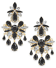 kate spade new york Crystal, Stone & Imitation Pearl Chandelier Earrings